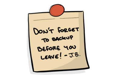When did you last do a backup?