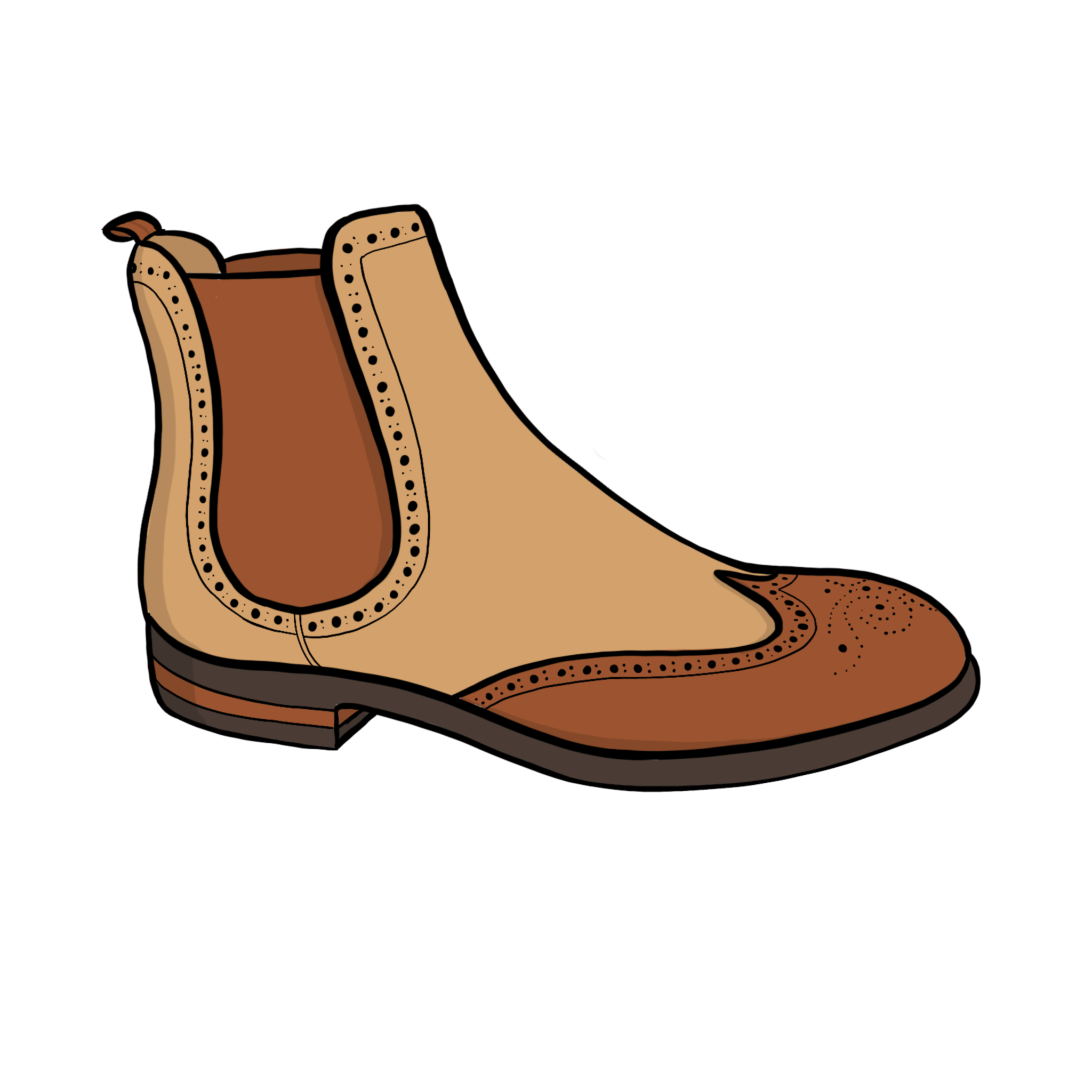Drawing of a boot