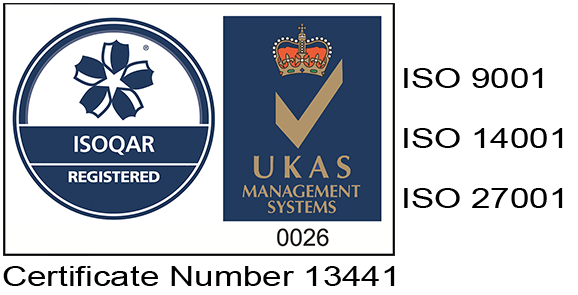 ISOQAR registered badge with certificate number 134441