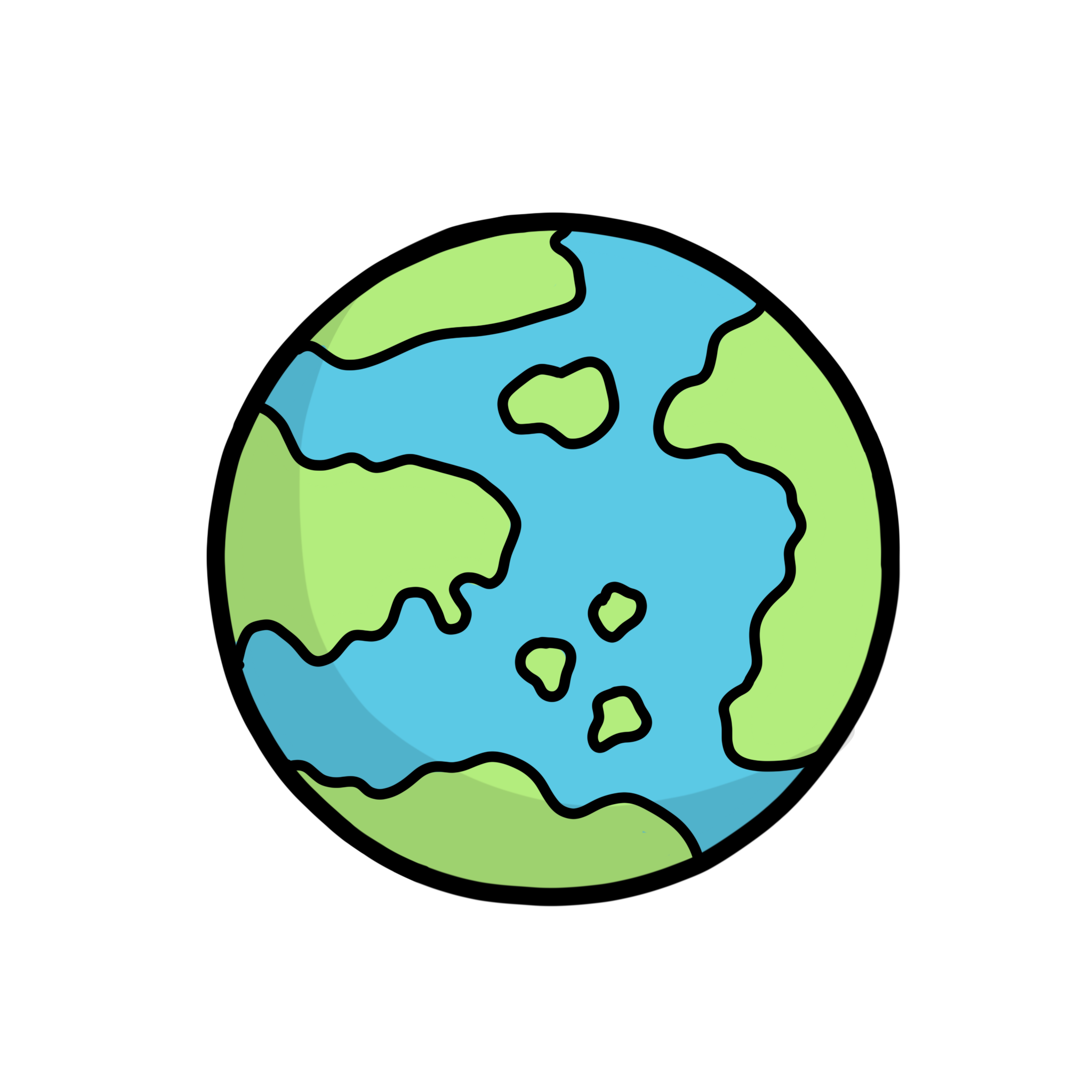Illustration of the globe of the world
