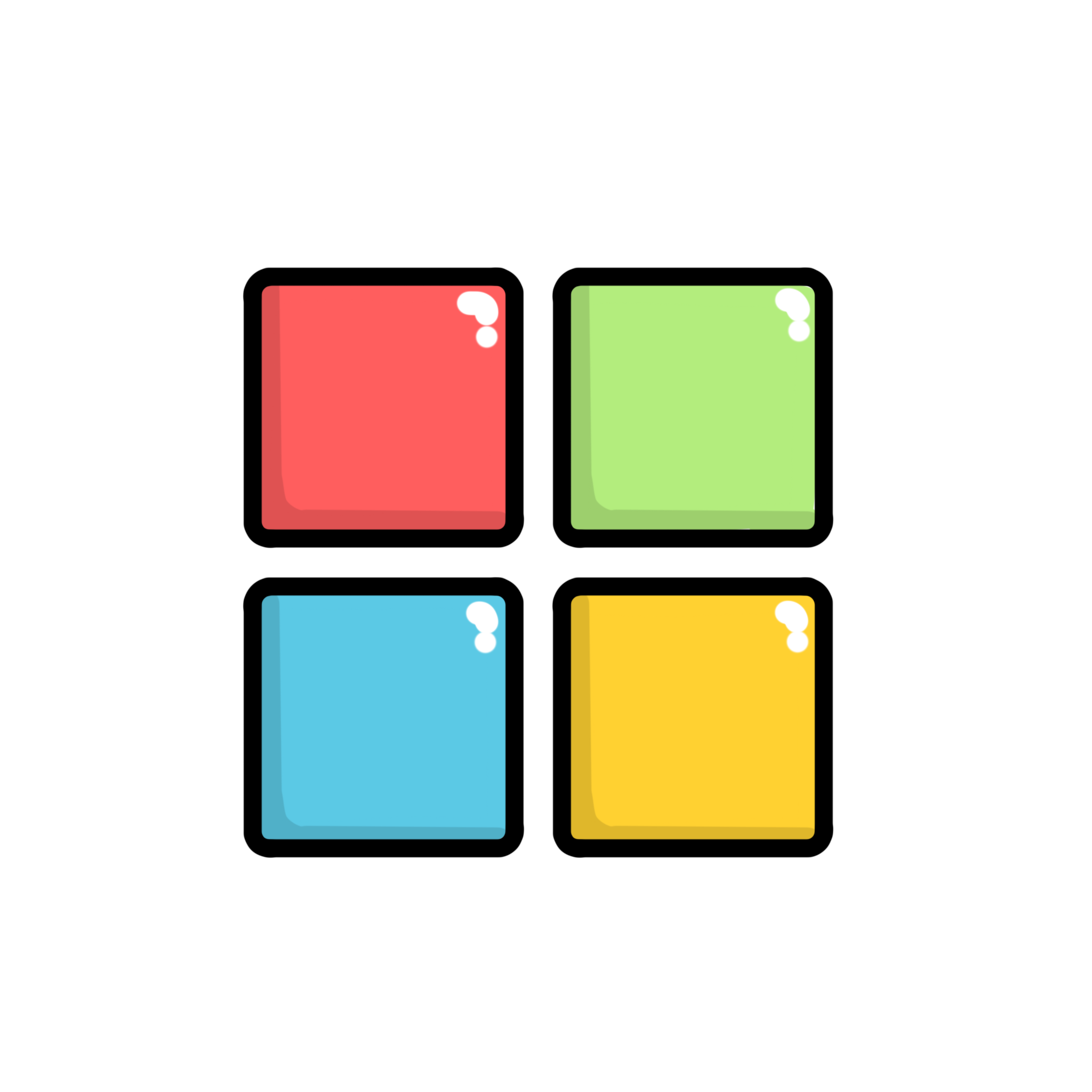 Windows logo red, green, blue and yellow